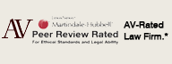 AV Rated Law Firm Badge